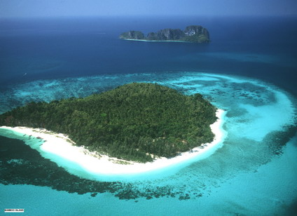 Visit Bamboo Island - Small reef-edged island