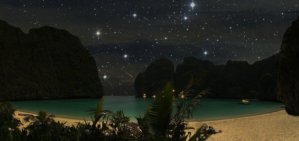 Explore the Maya Bay at night